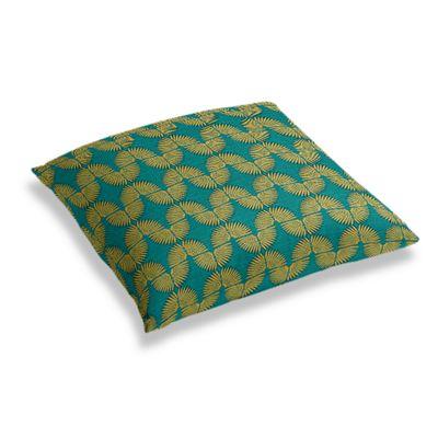 Metallic Gold & Teal Fan Floor Pillow