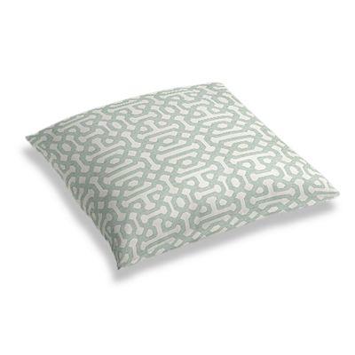 Pale Seafoam Trellis Floor Pillow