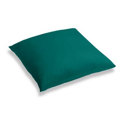 Teal Sunbrella® Canvas Floor Pillow