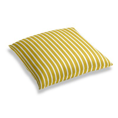 Bright Yellow Thin Stripe Floor Pillow