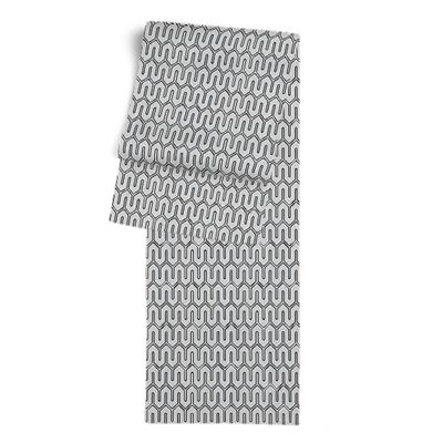 Pale Gray Geometric Table Runner