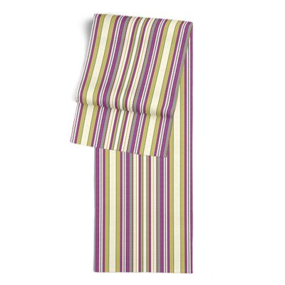 Green & Purple Stripe Table Runner