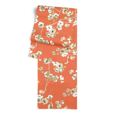 Orange Cherry Blossom Table Runner