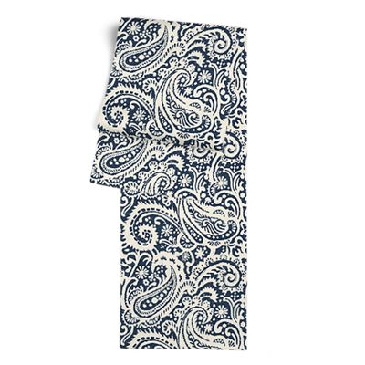 Navy Blue Paisley Table Runner
