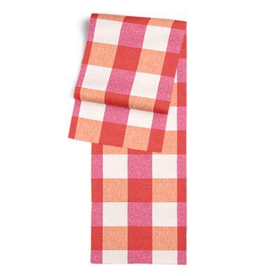 Pink & Orange Buffalo Check Table Runner