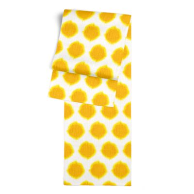 Bright Yellow Dot Table Runner