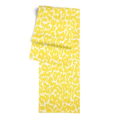 Yellow Leopard Print Table Runner