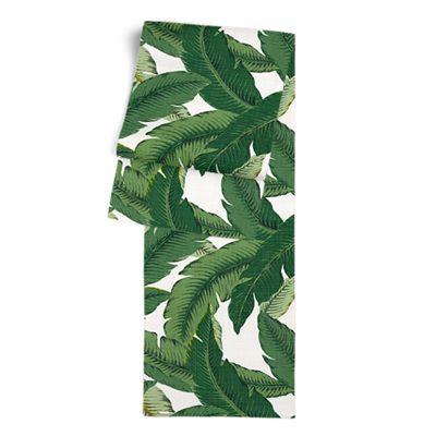 Green Banana Leaf Table Runner