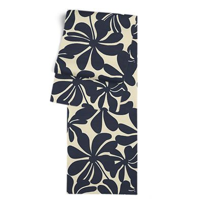 Navy Graphic Floral Table Runner