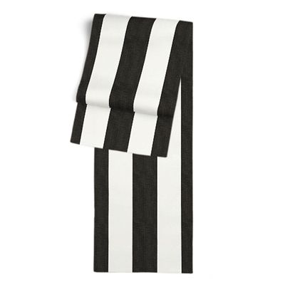 Black & White Awning Stripe Table Runner