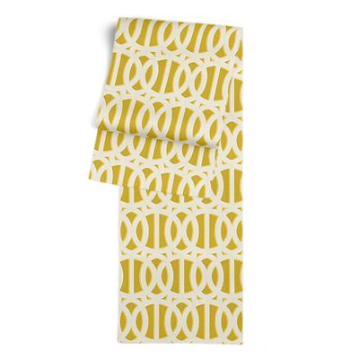 Bright Yellow Trellis Table Runner
