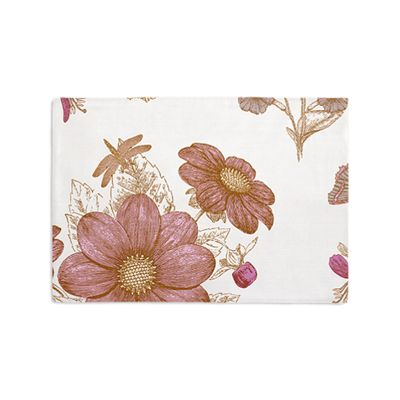 Sketched Pink Floral Placemats
