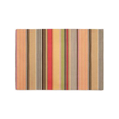 Orange & Red Striped Placemat, Set of 4