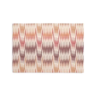 Orange & Pink Flame Stitch Placemats