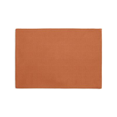 Burnt Orange Slubby Linen Placemats