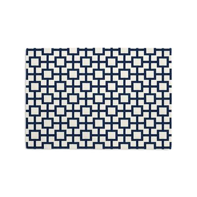Navy Blue Square Trellis Placemats