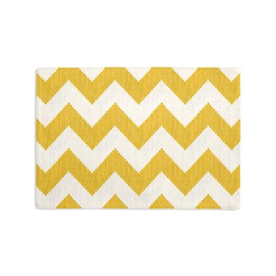 Bright Yellow Chevron Placemats