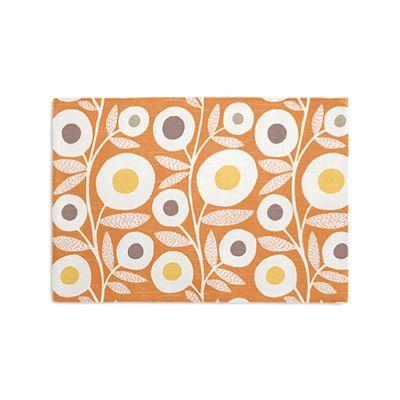 Modern Orange Floral Placemats