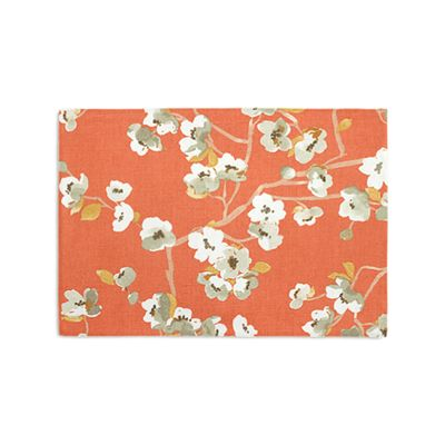 Orange Cherry Blossom Placemats