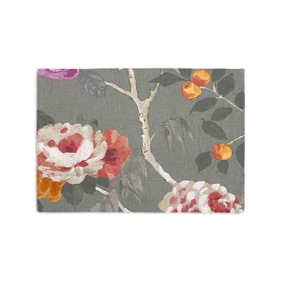 Painterly Pink & Gray Floral Placemats