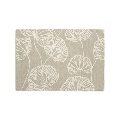 Beige Fan Leaf Placemats