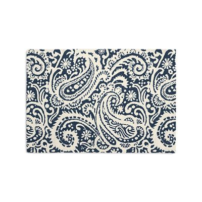 Navy Blue Paisley Placemats