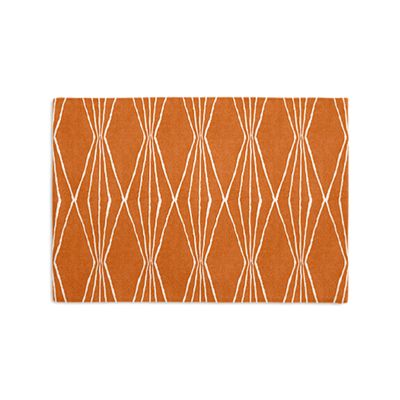 Burnt Orange Diamond Placemats