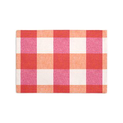 Pink & Orange Buffalo Check Placemat, Set of 4