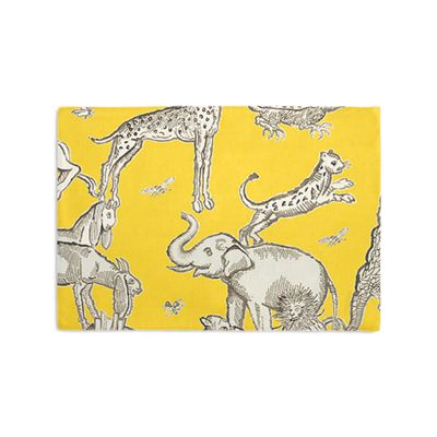 Yellow & Gray Zoo Animal Placemats