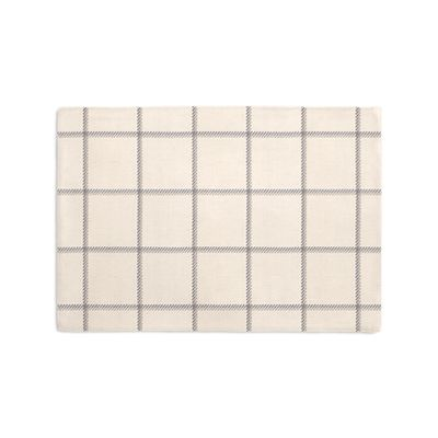 Gray Windowpane Check Placemats