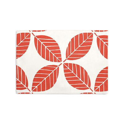 Geometric Coral Leaf Placemat, Set of 4