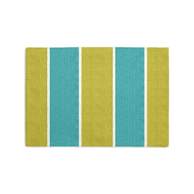 Lime & Teal Stripe Placemat, Set of 4