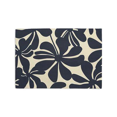 Navy Graphic Floral Placemats