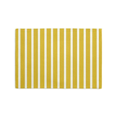 Bright Yellow Thin Stripe Placemats