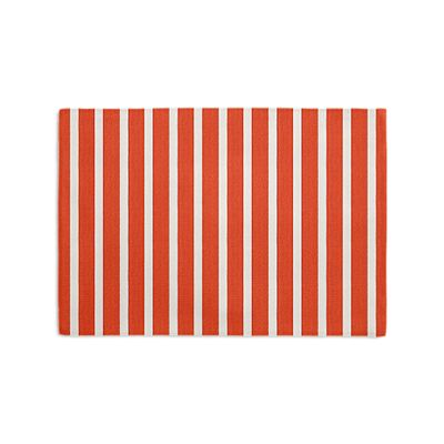 Flame Red Thin Stripe Placemats