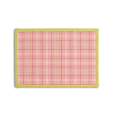 Plaid Pink Houndstooth Placemat, Set of 4