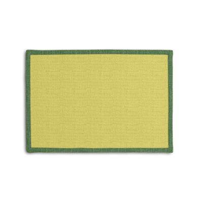 Lime Green Linen Placemat with Emerald Green Trim