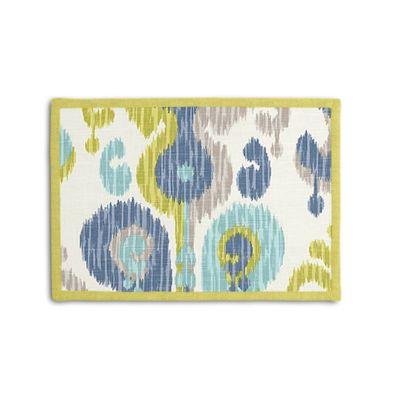 Aqua, Blue & Green Ikat Placemat, Set of 4