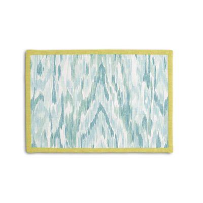 Aqua Blue Ikat Watercolor Placemat, Set of 4