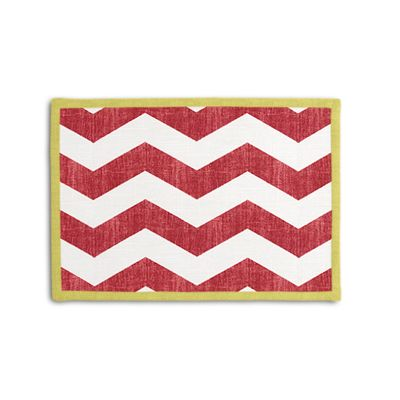 White & Red Chevron Placemat, Set of 4