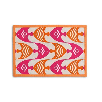 Pink & Orange Fish Placemat, Set of 4