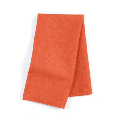 Solid Coral Linen Napkin, Set of 4