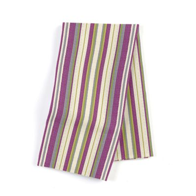 Green & Purple Stripe Napkins