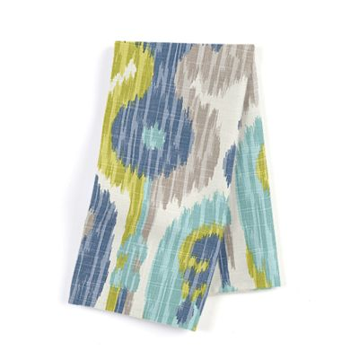 Aqua, Blue & Green Ikat Napkin, Set of 4