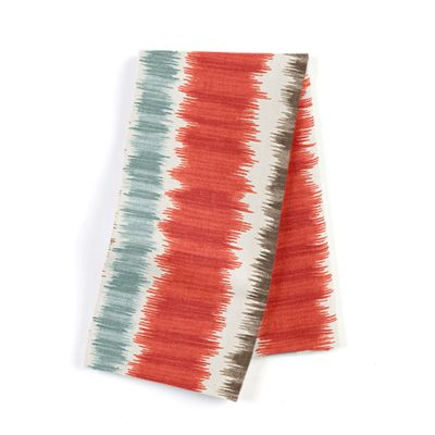 Aqua & Red Ikat Stripe Napkins