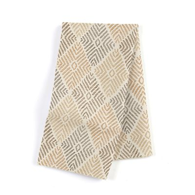 Beige Diamond Block Print Napkins