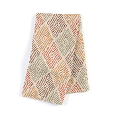 Orange Diamond Block Print Napkins