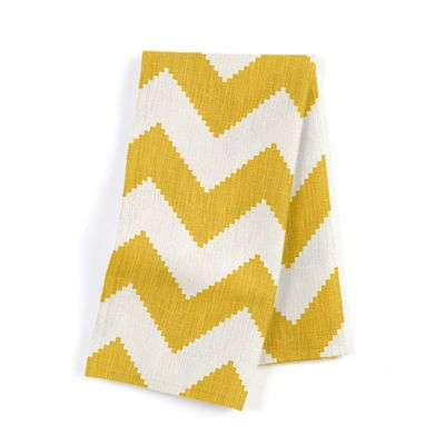 Bright Yellow Chevron Napkins