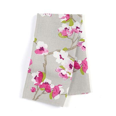 Gray & Pink Cherry Blossom Napkin, Set of 4