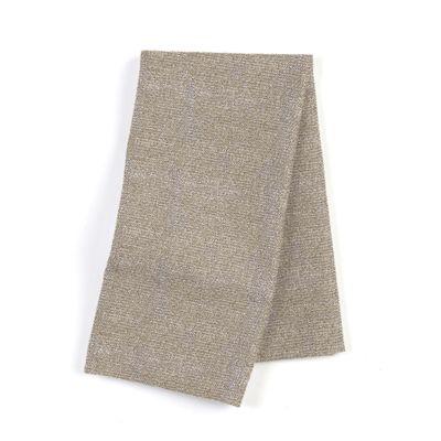 Silvery Gray Metallic Linen Napkins